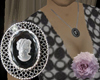 Black and Silver Cameo