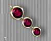 Burgundy Gold Earrings
