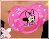 ♚ minnie mouse paci