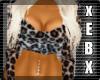 -Leopard Backless Shirt-