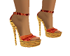 African Strappy Shoe
