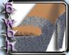 [6] Silver sparkly heels