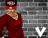 [[VBA]] Blood Red V-neck