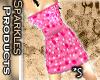 *S Dot Dress Pink