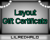 Layout Gift Certificate