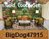 [BD] Gold Couch Set