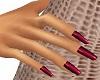 Julia Burgundy Red Nails
