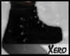✘. Black Boots + Socks