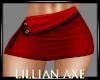 [la] Red Mini Skirt