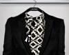 Suit, b/w.