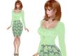 TF* Mint  Top & Skirt