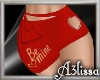 *MA* Be mine skirt red