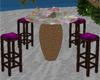 Palm Bar Table w/Chairs