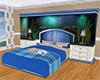 Blue Beach Cottage Bed