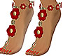 Red Flower Feet