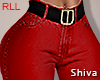 S. Red Jeans & Belt RLL