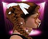 -S- White Hair Ribbons