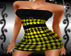 {LA} Yellow checker dres