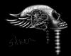 Skull Love stikr silver