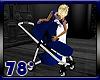 Blue Baby Boy Stroller