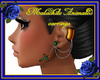 Malachite anim earrings