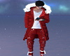 Red Christmas Outfit -M-