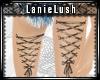 LL* Corset Leg Tattoos