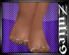 Bare Feet/Green Polish