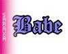 Babe Purple Cutout