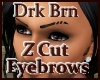 M1 Dark Brown Z Cut Brow