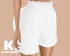 White High Waist Short