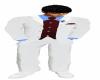 White&claret suit