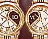 Couple watches gold F