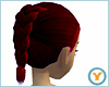 French Braid: Burgundy