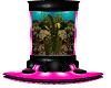 Pink fishtank seat