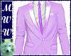 Lilac Suit Coat w/Tie