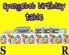 SPONGEBOB B-DAY TABLE