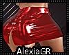 [A] Vinyl Red Skirt RLL