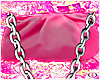 pink chain pouch
