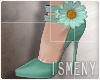 [Is] Flower Heels Aqua