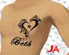 JA| Beth Chest tattoo
