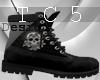 Skull bike boots