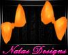 Orange Pigtail bows