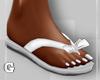 White Bow Flip Flops