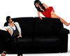 10 POSES BLACK COUCH
