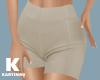 Cream Tight Shorts L