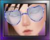 LoveHeart Glasses Blue