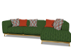Granular Green Sofa
