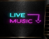 Neon Live Music Sign