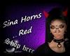 Sina Horns Red